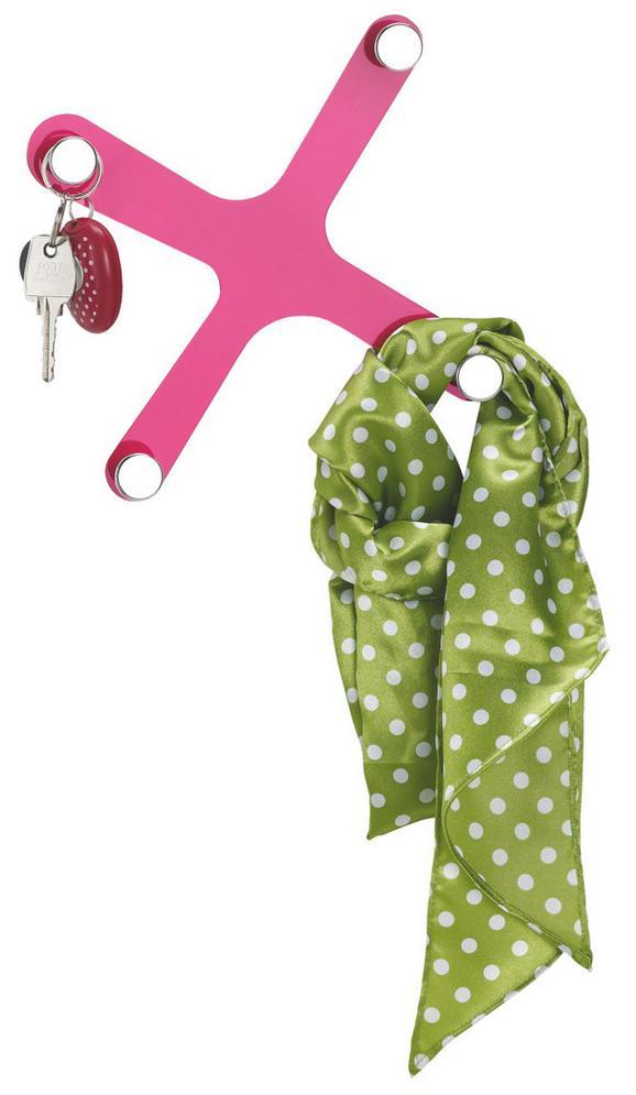 Fali Akasztó Mömax   -sb- - Pink, konvencionális, Műanyag (17/17cm)