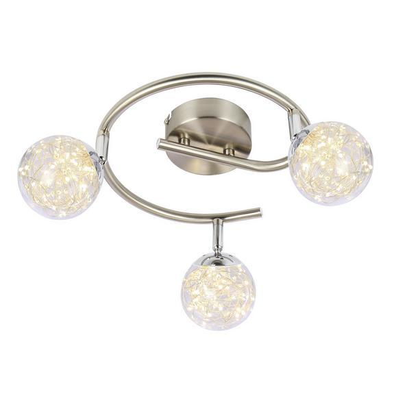 LED-Strahler 56804-3 max. 10,5 Watt - Klar, MODERN, Glas/Metall (25/19,5cm)