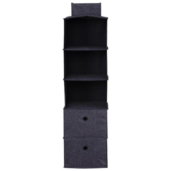 Hängeorganizer in Grau - Grau, Holzwerkstoff/Textil (30/29/100/20/30/29cm) - Modern Living