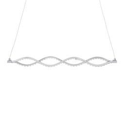 LED-Hängeleuchte Kristi max. 18 Watt - Silberfarben, ROMANTIK / LANDHAUS, Kunststoff/Metall (76/120cm) - Premium Living