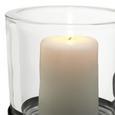 Teelichthalter Malina inkl. Gläser ca. 79/21cm - Schwarz, MODERN, Glas/Metall (79/21/21cm)