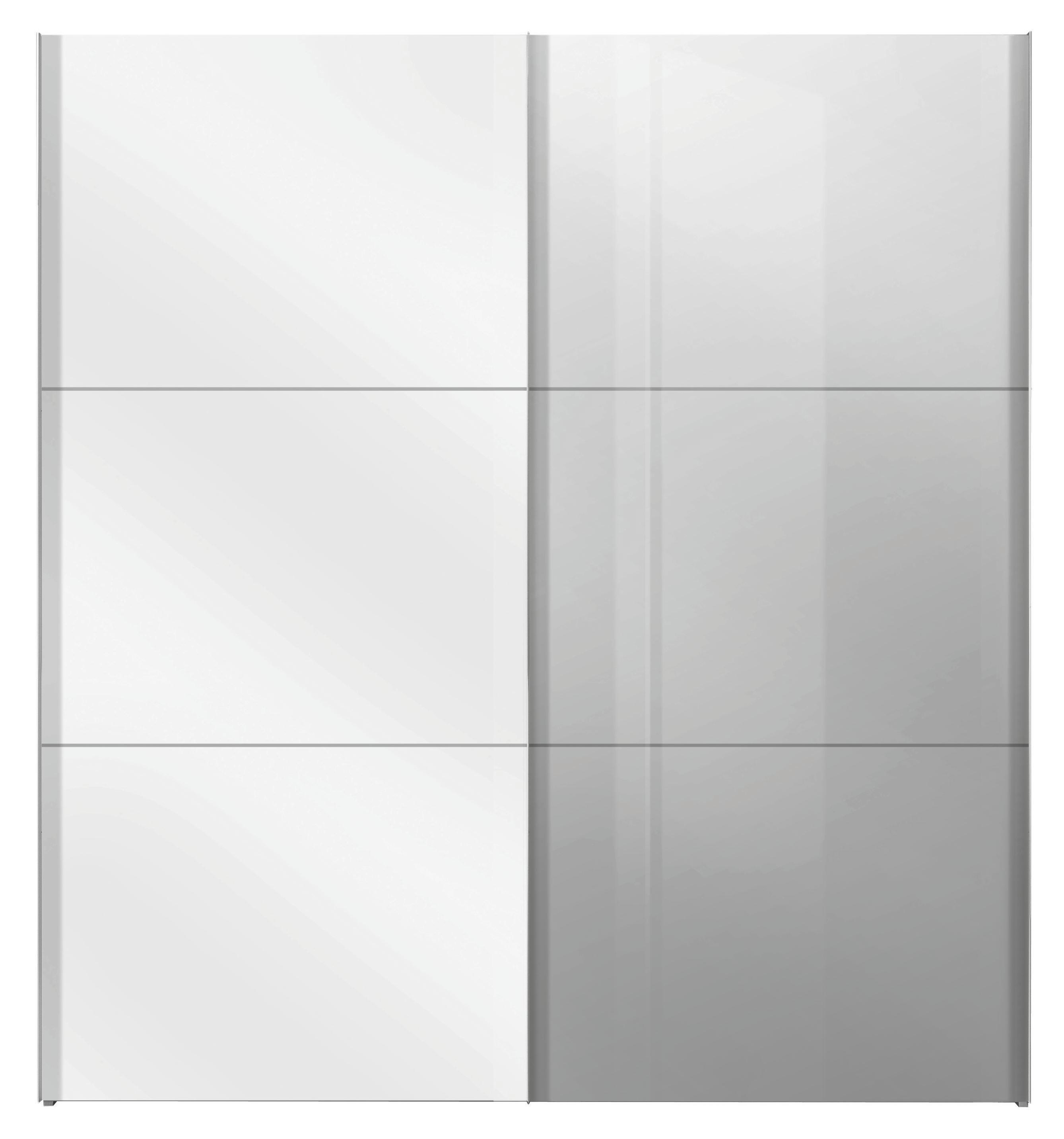 Schwebetürenschrank weiß mit spiegel  Schwebetürenschrank in Weiß mit Spiegel online kaufen ➤ mömax