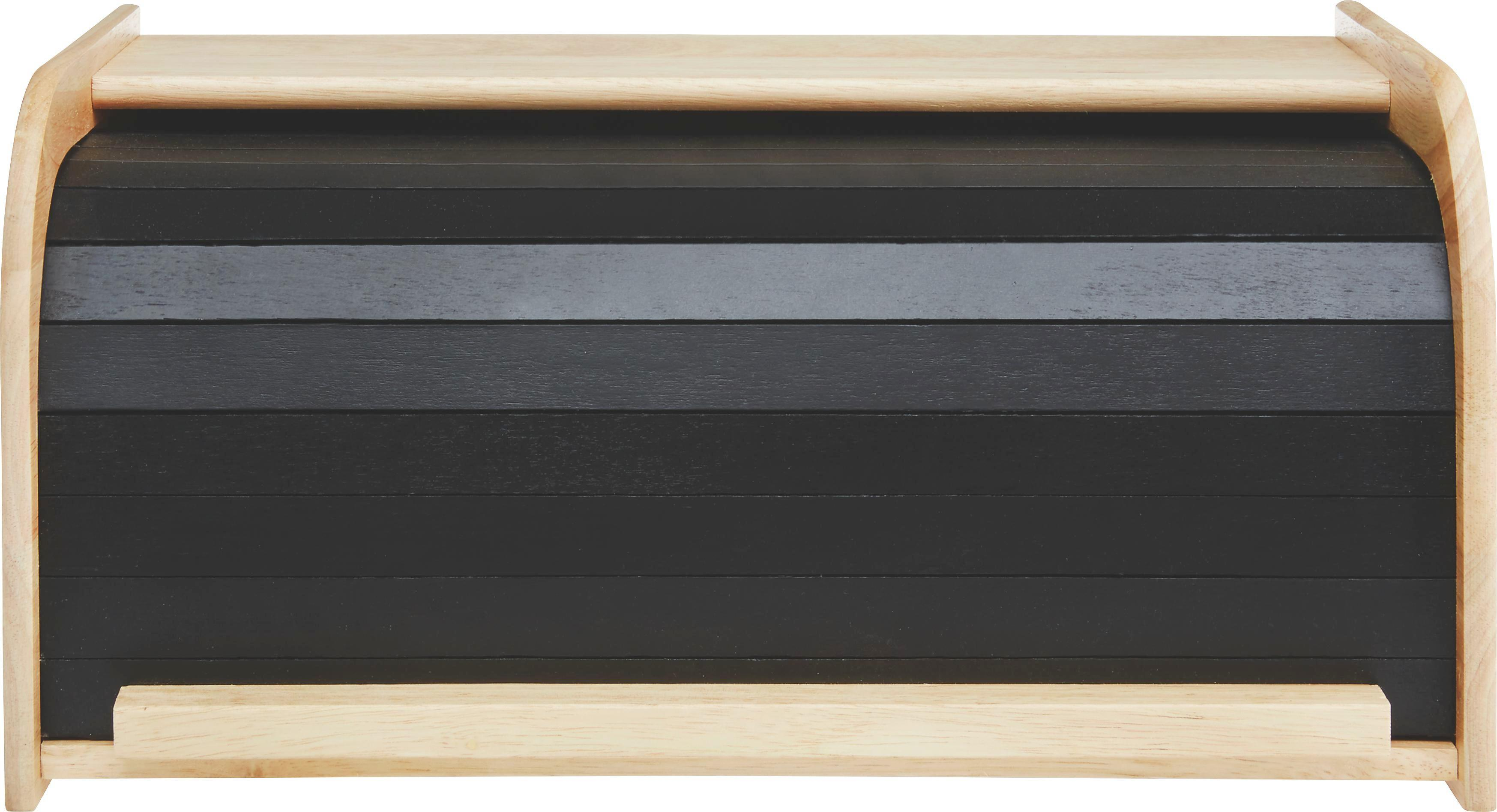 Brotbox Sirikit in Natur/Schwarz - Schwarz/Naturfarben, LIFESTYLE, Holz (40/23/19,5cm) - MÖMAX modern living