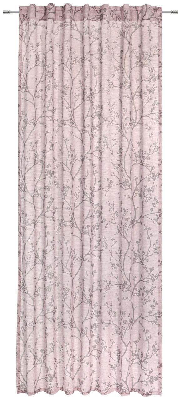 Schlaufenvorhang Judith Rosa ca. 140x245cm - Rosa, ROMANTIK / LANDHAUS, Textil (140/245cm) - Mömax modern living