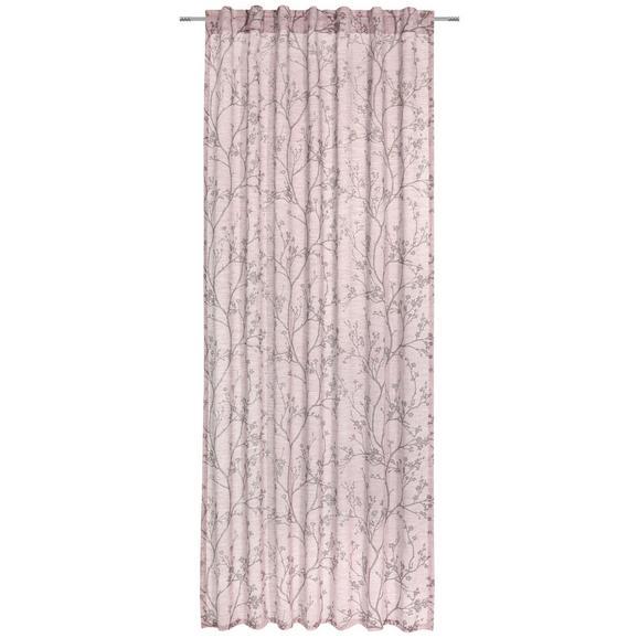 Zavesa Z Zankami Judith - roza, Romantika, tekstil (140/245cm) - Mömax modern living