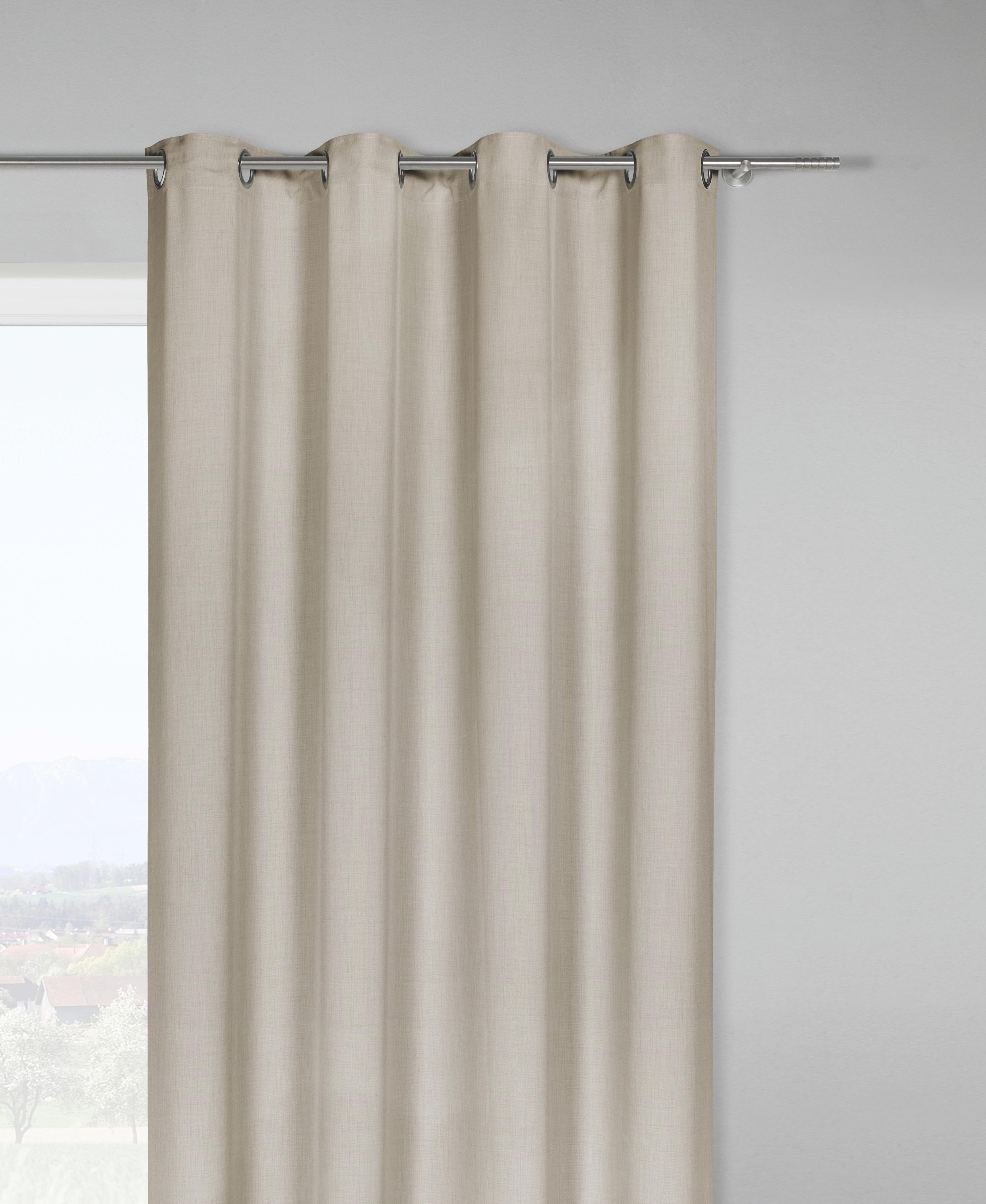 Ösenvorhang Ulli in Schlamm, ca. 140x245cm - Schlammfarben, Textil (140/245cm) - MÖMAX modern living