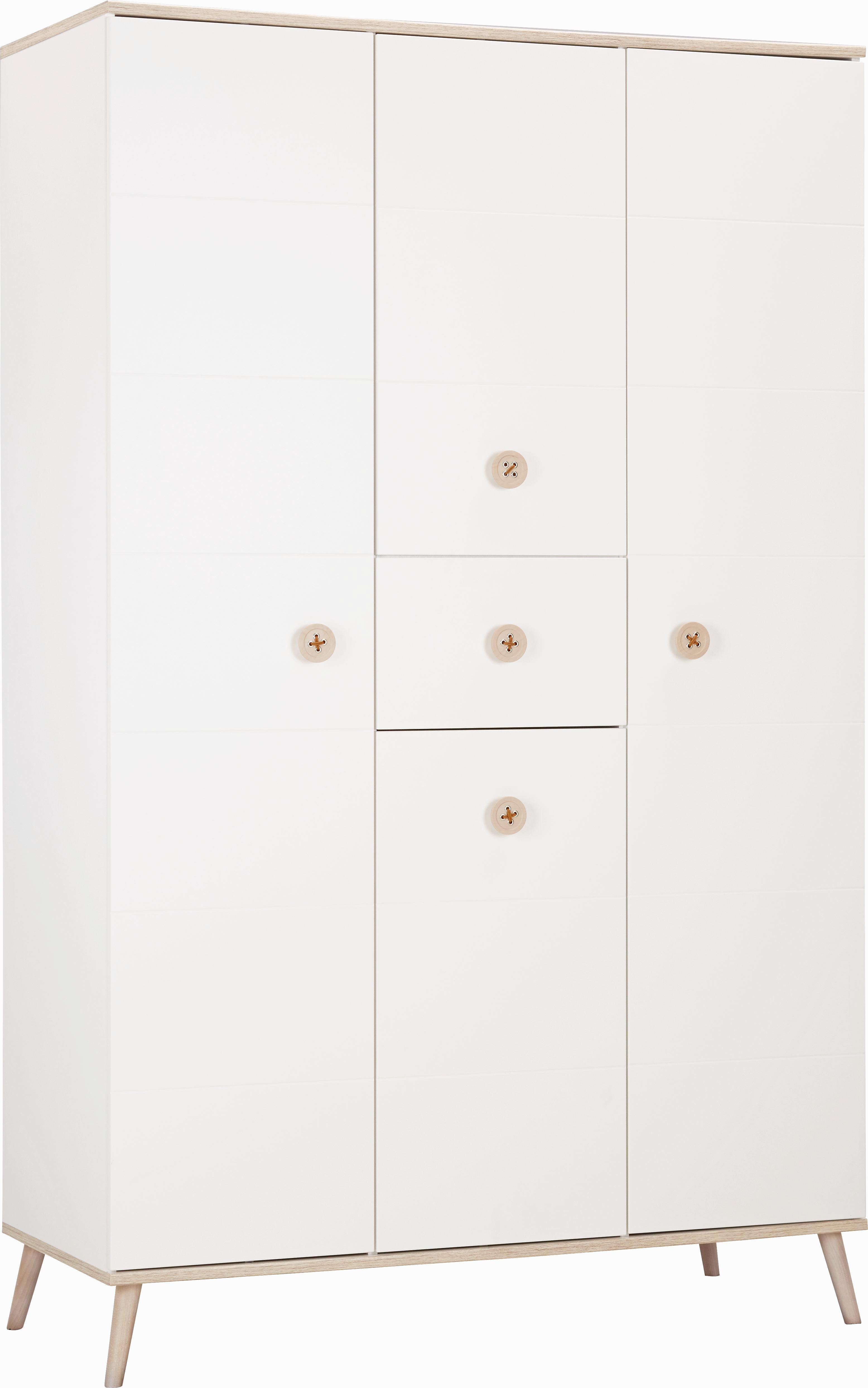 Ruhásszekrény Billund - tölgy színű/fehér, modern, fa/faanyagok (125/202/55cm) - MODERN LIVING