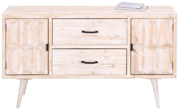 Sideboard Weiß - Schwarz/Weiß, LIFESTYLE, Holz/Holzwerkstoff (122/65,5/30,5cm) - PREMIUM LIVING