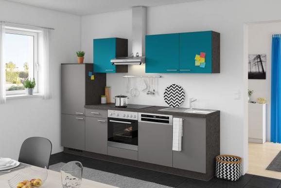 Kuhinjski Blok Win/plan - turkizna/antracit, Moderno, leseni material (280cm) - Express
