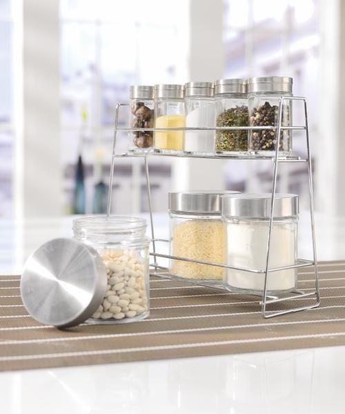 Fűszertartó Poc Eleonore - tiszta/nemesacél színű, konvencionális, üveg/fém (17X/9,2X/22,6cm) - MÖMAX modern living