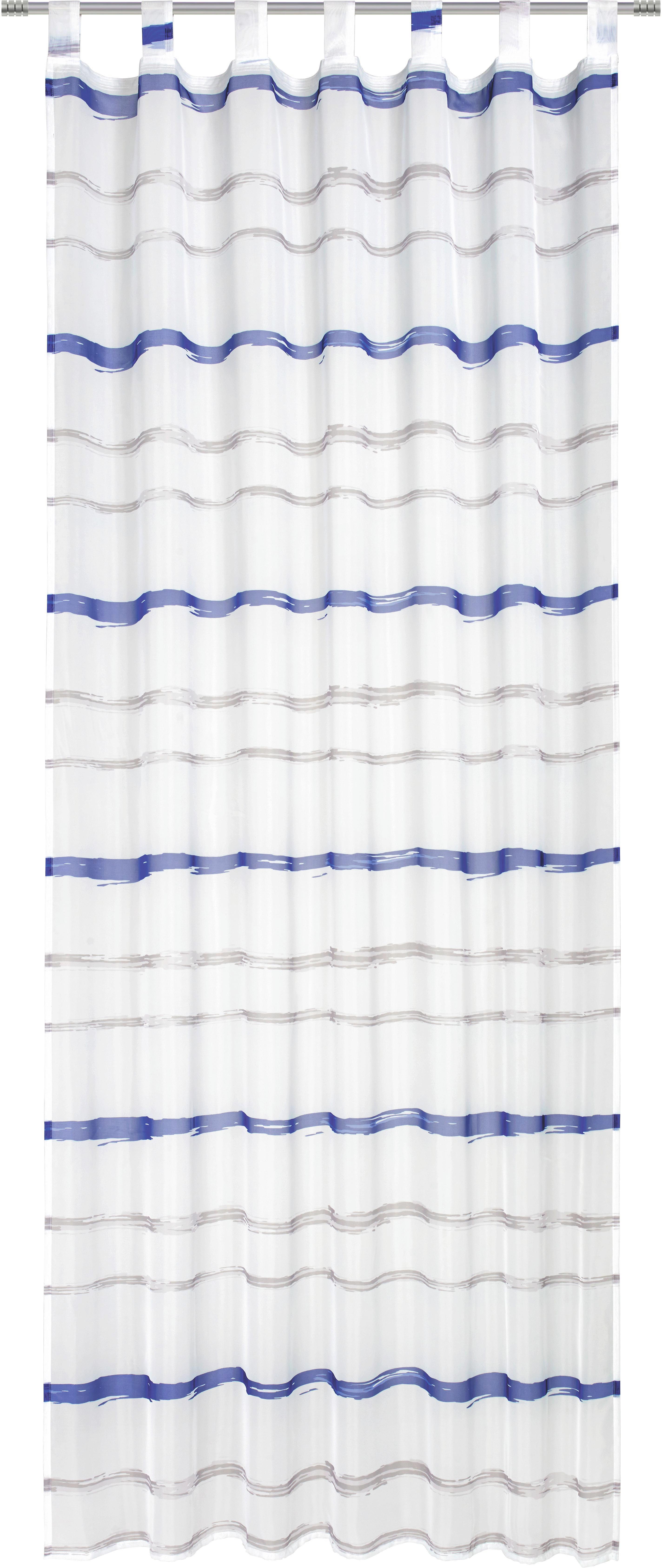 Készfüggöny Matthias - fekete/kék, textil (135/255cm) - MÖMAX modern living