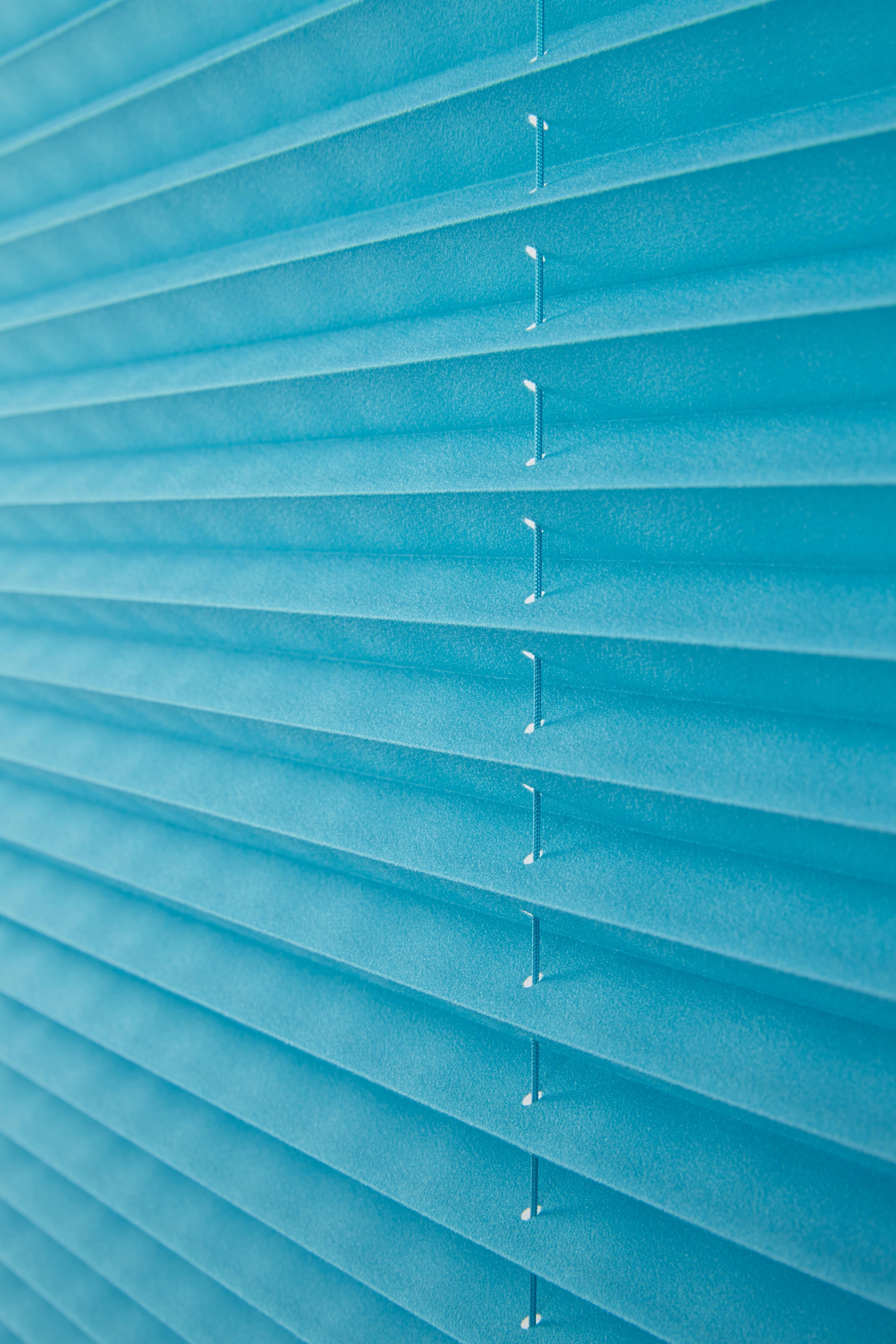 Plissee Free in Petrol, ca. 50x130cm - Petrol, Textil (50/130cm) - PREMIUM LIVING