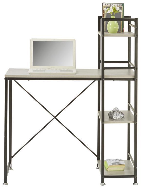 Schreibtisch Schwarz - Schwarz/Grau, Holzwerkstoff/Metall (90/114/52cm) - Mömax modern living