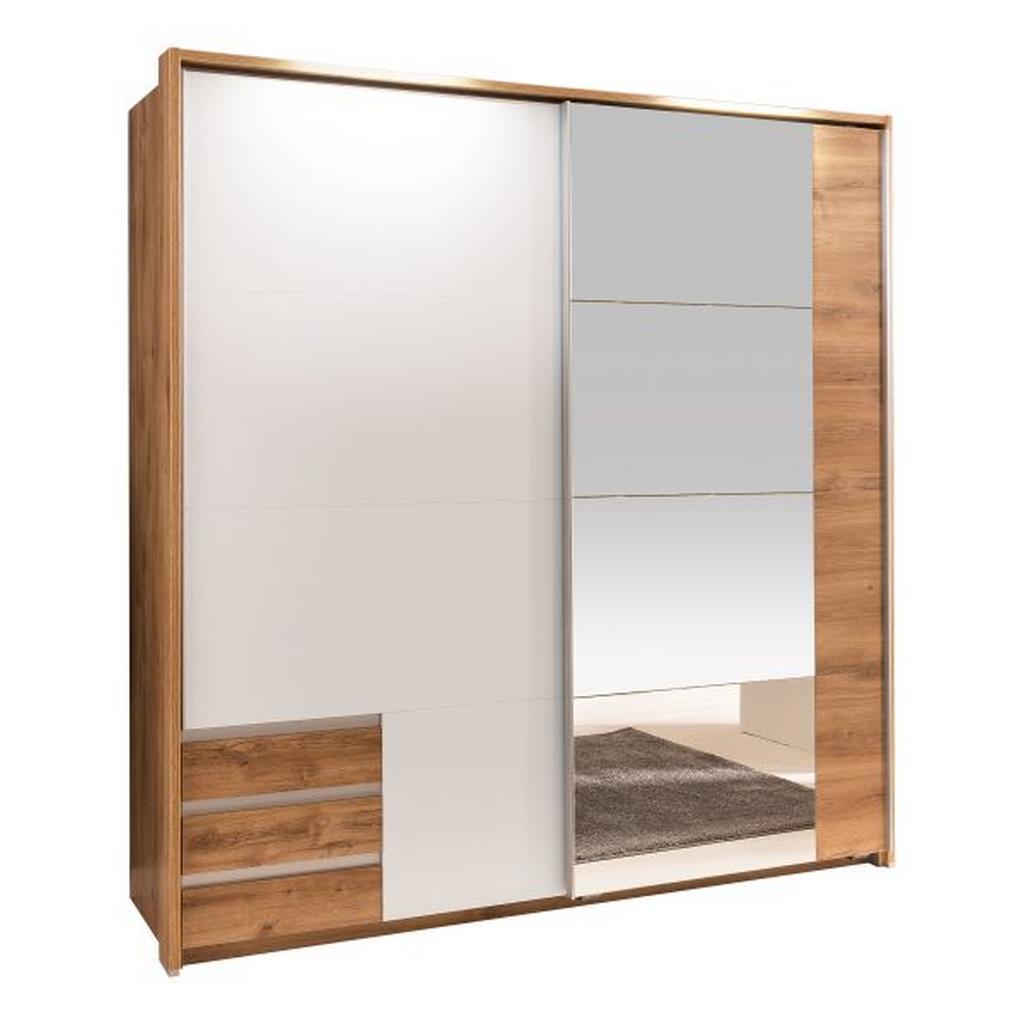 schwebet renschrank wei eichefarben willisbeachresort. Black Bedroom Furniture Sets. Home Design Ideas