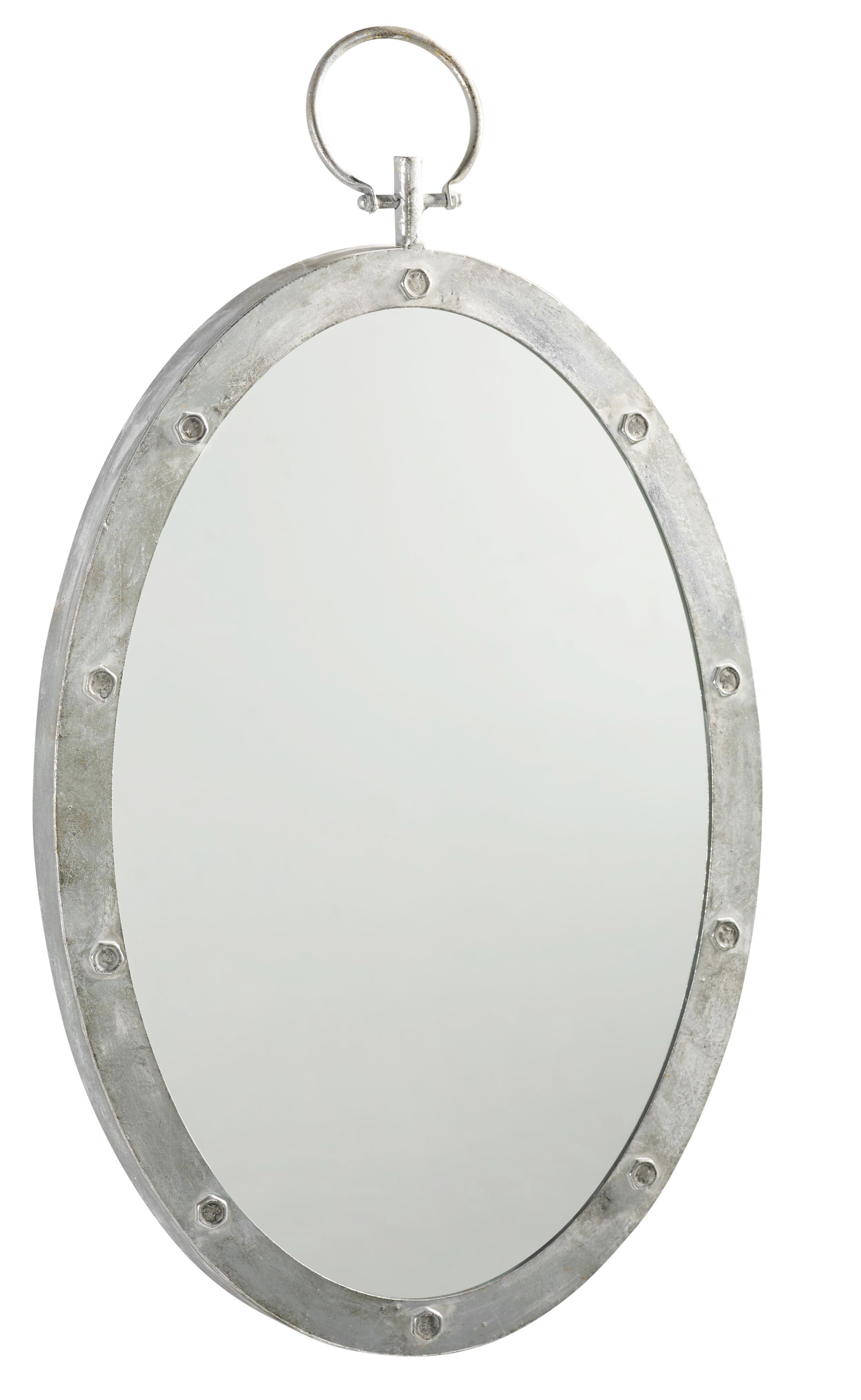 Wandspiegel Kara - Silberfarben/Grau, MODERN, Glas/Holzwerkstoff (45/70/4,5cm) - MÖMAX modern living
