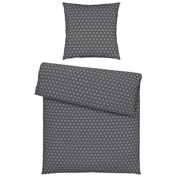 Bettwäsche Roland in Grau ca. 135x200cm - Blau/Rot, Textil (135/200cm) - Mömax modern living