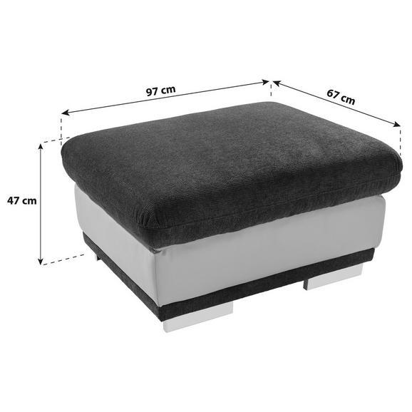 Ülőke Seaside - Világosszürke/Szürke, konvencionális, Textil (97/47/67cm)