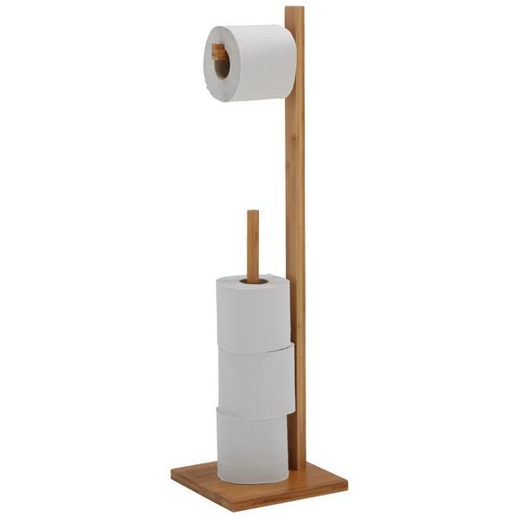 Toilettenpapierhalter Naturfarben - Naturfarben, MODERN, Holz (19/71/19cm) - Mömax modern living