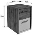 Nočna Omarica Julia - aluminij/bela, Konvencionalno, umetna masa/leseni material (45/57/42cm) - Mömax modern living
