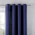Perdea Cu Inele Tip Capsă Ulli - albastru închis, textil (140/245cm) - Modern Living