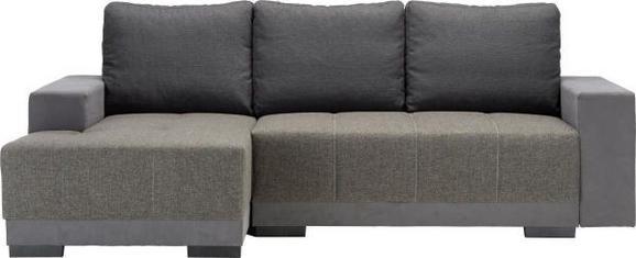 Sedežna Garnitura Lorenzo L - siva/črna, Moderno, umetna masa/tekstil (136/87/245cm) - Modern Living