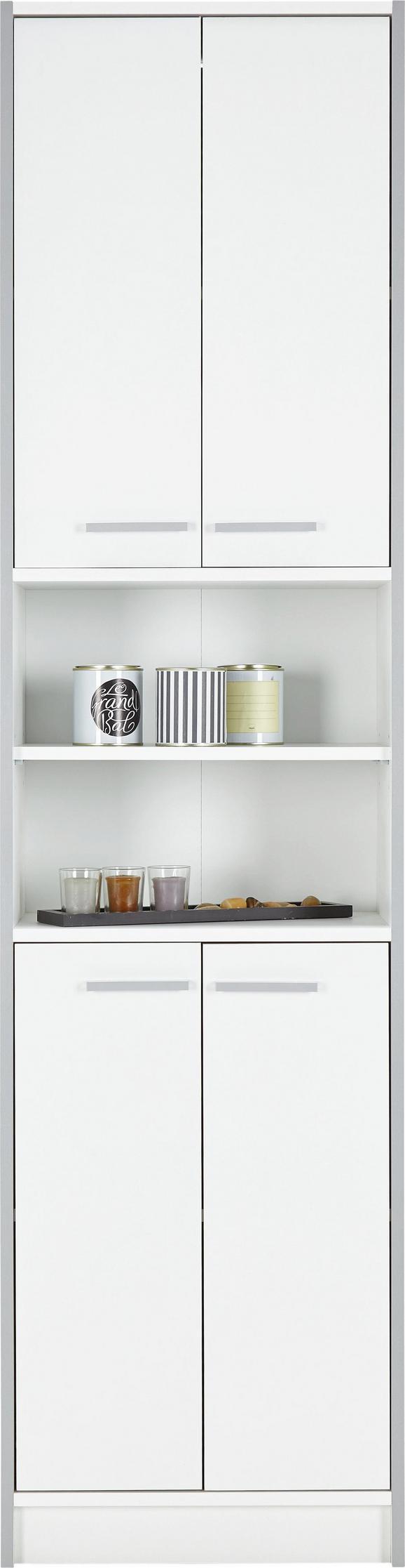 Hochschrank perlweiß - Holzwerkstoff/Kunststoff (50/195/32cm) - Based