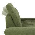 Zweisitzer-Sofa in Grün - Schwarz/Grün, KONVENTIONELL, Holzwerkstoff/Metall (228/104/115cm) - Premium Living