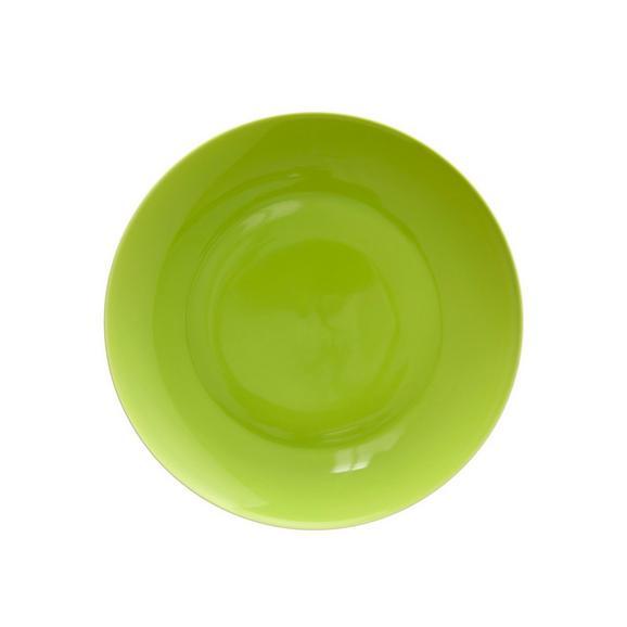 Dessertteller Sandy aus Keramik Ø ca. 20,4cm - Grün, KONVENTIONELL, Keramik (20,4/1,8cm) - Mömax modern living