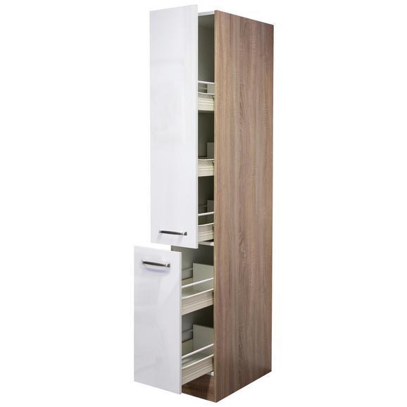 Izvlečna Omara Venezia Valero - bela/hrast, Moderno, kovina/leseni material (30/200/57cm)