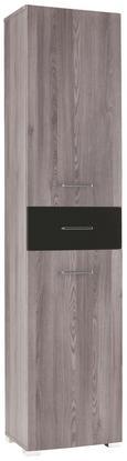 Regal Dark - črna/siva, Moderno, steklo/les (45/199/35cm) - Premium Living