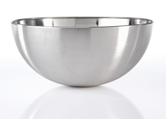 Schüssel Vinzenz Ø ca. 24,5cm - Edelstahlfarben, MODERN, Metall (24/11,5cm) - Mömax modern living