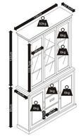 Buffet Melanie - Weiß/Kieferfarben, MODERN, Glas/Holz (138/207/40cm) - Modern Living