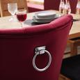 Stuhl in Rot aus Samt - Naturfarben/Dunkelrot, LIFESTYLE, Holz/Textil (58/97/67cm) - Premium Living