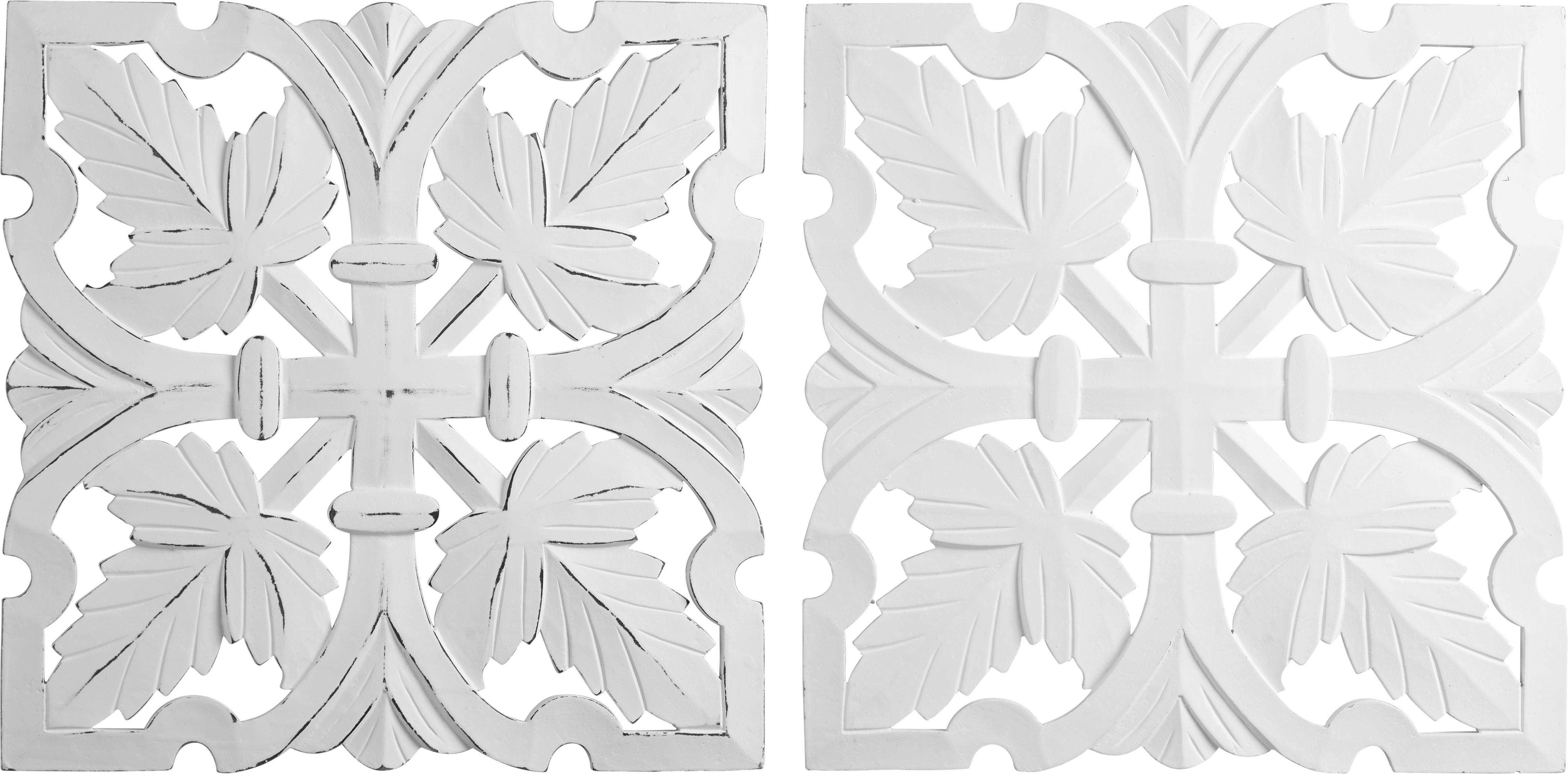 Wanddeko Krishna ca. 50/50cm - Weiß, ROMANTIK / LANDHAUS, Holzwerkstoff (50/50cm) - MÖMAX modern living