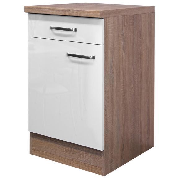 Kuhinjska Spodnja Omarica Venezia Valero - bela/hrast, Moderno, kovina/leseni material (50/86/60cm)