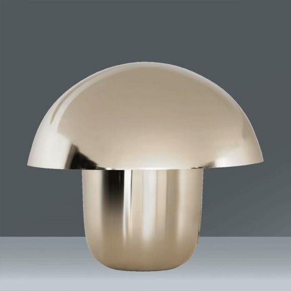 Tischleuchte Mushroom Chrome, max. 60 Watt - Chromfarben, MODERN, Metall (50/44/50cm) - MÖMAX modern living