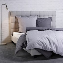 Bettwäsche Bugatti perkal- Baumwolle - Anthrazit/Hellgrau, MODERN, Textil (135x200/80x80cm) - BUGATTI