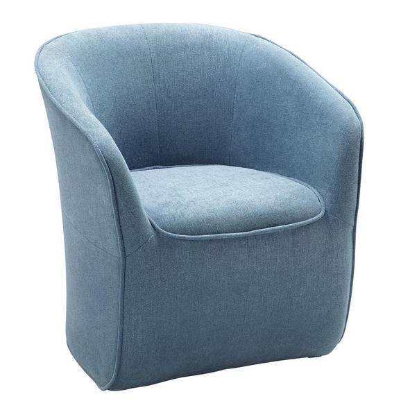 Fotelj Steffen - modra/siva, Moderno, leseni material/tekstil (72/77/72cm) - Modern Living