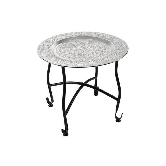 Podstavek Za Svečo Sharma - srebrna, Romantika, kovina (41/36cm) - Mömax modern living