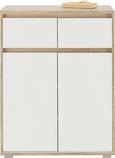 Komoda Pluto - bela/hrast sonoma, Moderno, leseni material (80/103/48cm) - Mömax modern living