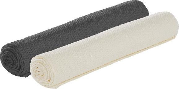 Antirutschmatte Antje - Silberfarben/Weiß, Kunststoff (30/150cm) - Mömax modern living