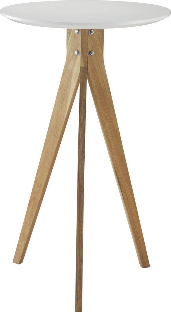 Bartisch in Weiß und Walnuss - Braun/Weiß, MODERN, Holz/Holzwerkstoff (60/100/60cm) - ZANDIARA