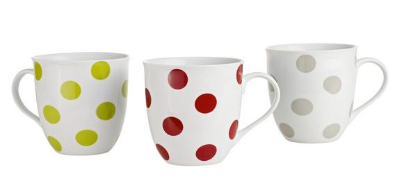 Kaffeebecher Pongo aus Porzellan ca. 570ml - Rot/Grau, KONVENTIONELL, Keramik - Mömax modern living