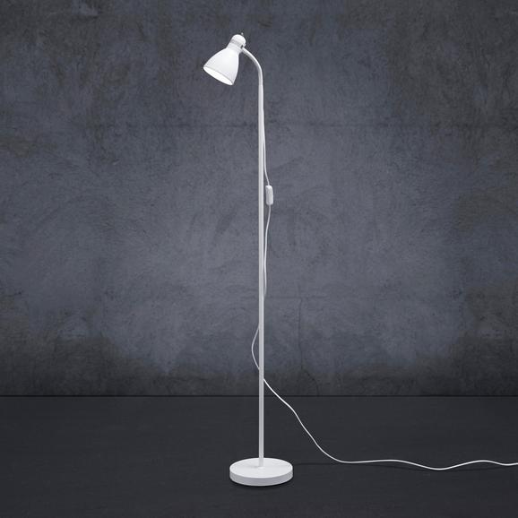 Stehleuchte Mauro - Weiß, MODERN, Metall (19/145cm) - Modern Living