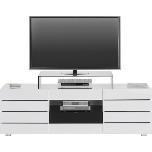 TV-Element in Weiß/Schwarz Hochglanz - Schwarz/Weiß, MODERN, Glas/Holzwerkstoff (160/50/41,5cm) - Mömax modern living