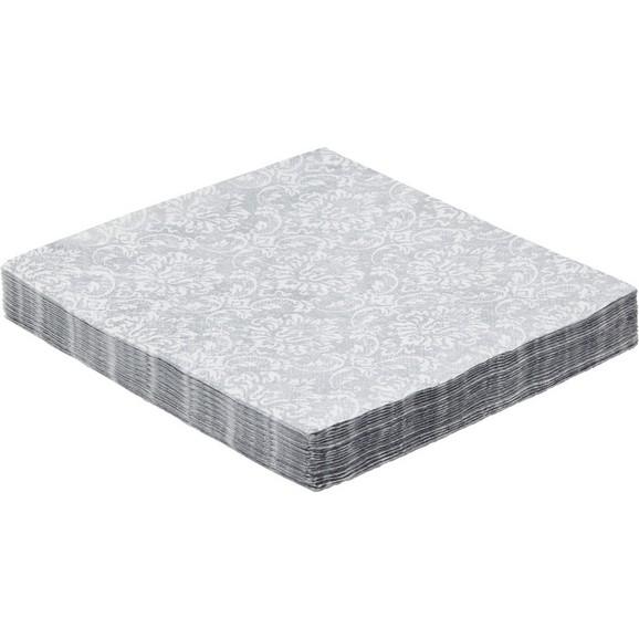 serviette patty aus papier in silber online kaufen m max. Black Bedroom Furniture Sets. Home Design Ideas