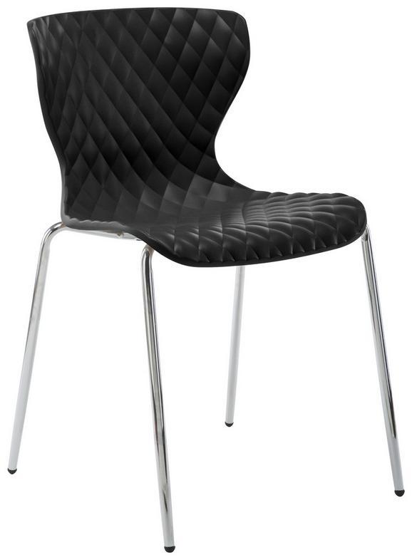 Konferenčni Stol Enna - črna/krom, kovina/umetna masa (44/80,5/51cm) - Mömax modern living
