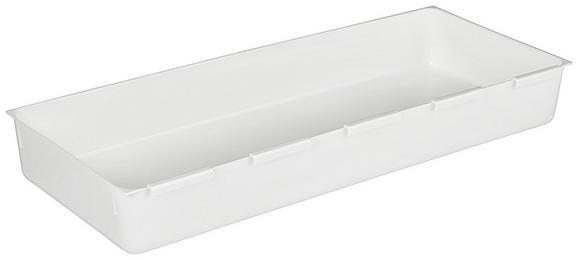 Schubladenbox Wanda in Weiß, ca. 14,9x37,5cm - Weiß, Kunststoff (14,9/37,5cm)