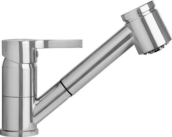 Spültischarmatur Lissabon / Edelstahl - Edelstahlfarben, LIFESTYLE, Kunststoff/Metall (18cm)