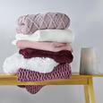 Decke in Rosa ca. 130x170 cm 'Rahel' - Rosa, MODERN, Textil (130/170cm) - Bessagi Home